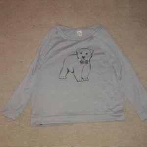 🍁Grey Polar Bear T-shirt